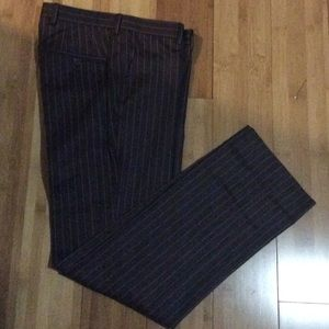 H&M Brown With pinstripes dress pants